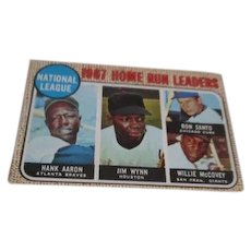 1968 Topps #5 1967 National League Home Run Leaders