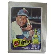 Topps Card #340 Tony Oliva Outfield Minnesota Twins