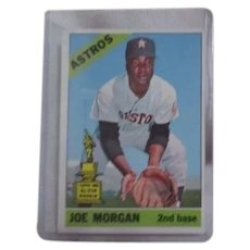 Topps Baseball Card #195 Joe Morgan 2nd Base Houston Astros