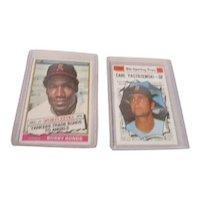 2 Topps Baseball Cards Sporting News Bobby Bonds and Carl Yastrzemski