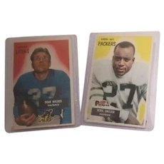 Two Bowman Football Trading Cards Veryl Switzer and Doak Walker