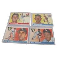 Set of 4 1955 Topps Baseball Cards