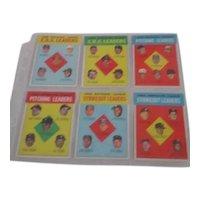 Set of 6 1962 Leaders Baseball Cards
