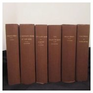 Antique Set of 6 Classic Books