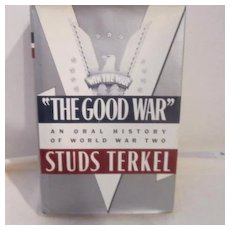 "Vintage ""The Good War"" by Studs Terkel Personal Histories of WWII"