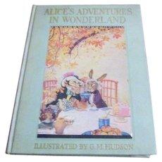 1935 Alice's Adventures in Wonderland Illustrated by Hudson