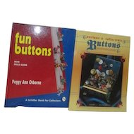 Pair of Books on Buttons Fun Buttons and Antique & Collectible Buttons Price Guides