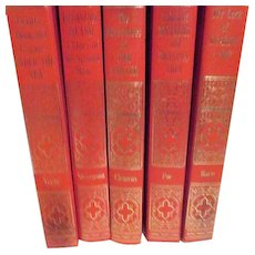 Set of 5 Classics for Youth Harte, Poe, Verne, Stevenson and Twain