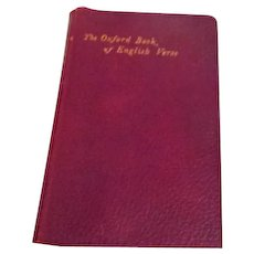 Antique 1908 The Oxford Book of English Verse Red Leather Bound Gilt Edges