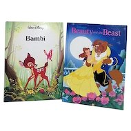 Disney 2 Book Set Bambi and Beauty and the Beast