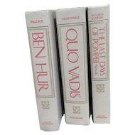 Set of Three Books: Ben Hur, Quo Vadis, The Lat Days of Pompeii
