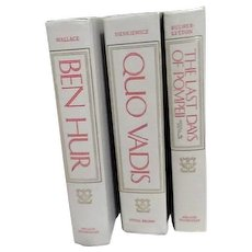 Set of Three Books: Ben Hur, Quo Vadis, The Lat Days of Pompeii