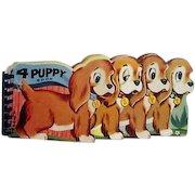 4 Puppy Book 1956 Harvey House