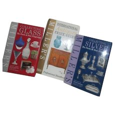 3 Miller's Price Guides Glass, Silver and International Antiques