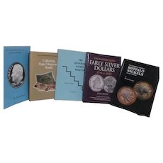 Set of 5 Books on Collecting and Evaluating Money