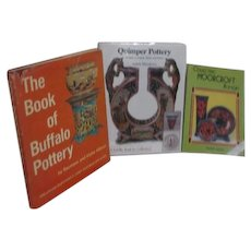 Pottery Reference Books Moorcroft, Quimper, and Buffalo