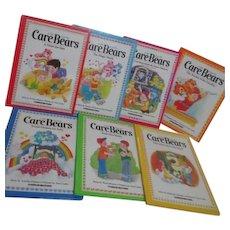 Set of 7 Care Bears Hardback Books 1983-1984