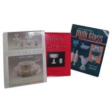 3 Milk Glass Collecting Hardback Books