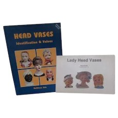 2 Books of Lady Head Vases