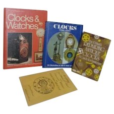 Reference Books on Clocks & Watches Repair Antique Clocks Set of 4