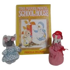 The Merry House Schoolhouse with 2 Soft Mice