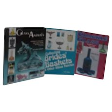 3 Books on Glass: Bride's Baskets, Animals and Crackle Glass
