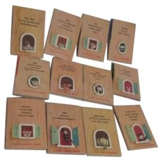 Set of 12 Tiny Golden Books 1948 Complete Set