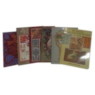 Set of 6 Paperback Books on Art Nouveau Styles and Designs