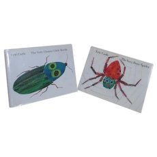 2 Eric Carle Books--Busy Spider and Clumsy Beetle