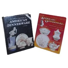 Two Hardback Books on American Dinnerware with Values