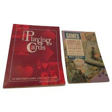 2 Paperback Books Games and Playing Cards Collecting