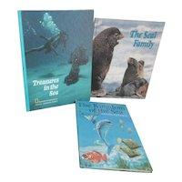 Set of 3 Children's Books of Ocean Inhabitants