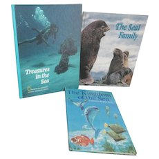 Set of 3 Children's Books of Ocean Inhabitants