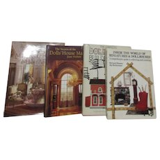 Set of 4 Books on Miniatures and Dollhouses