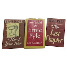 3 Ernie Pyle Books: 2 by Pyle 1 About Pyle