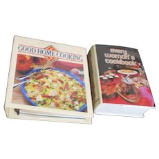 Set of 2 Hardback Cookbooks:Good Home and Every Woman's