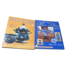 Set of 2 Paperback Books on Flow Blue China