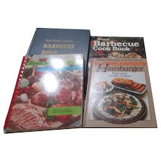 Set of 4 Cookbooks on Meat & BBQ