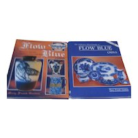 Set of 2 Hardback Books on Flow Blue China