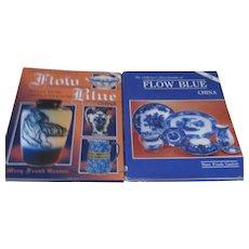 Set of 2 Hardback Books on Flow Blue China