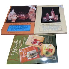 3 Collector's Books on Roseville Pottery