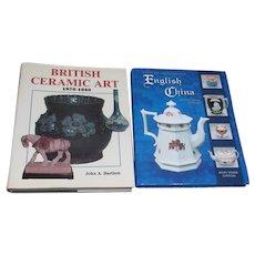2 Books on British China & Ceramic Art