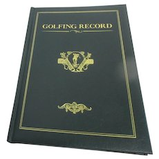 Leather Bound Golfing Record Book