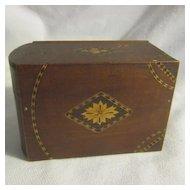 Vintage Japanese Wood Cigarette Box