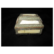 Trinket Footed, Hinged and Lined Jewelry Box/Casket
