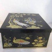 Vintage Metal Box with Oriental Decoration