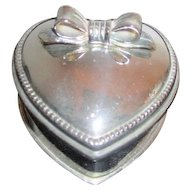 Heart Shaped Silver Plated Presentation Box