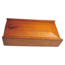 Wood Box for Small Mantel Clock Travel