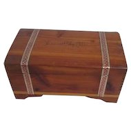 Wooden Box Inscribed Kansas City, MO Date Nov. 15, 1937 on Bottom