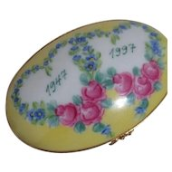 Limoges Oval Pill Box 50th Anniversary